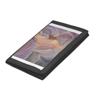 antelope canyon painting in oil trifold wallet