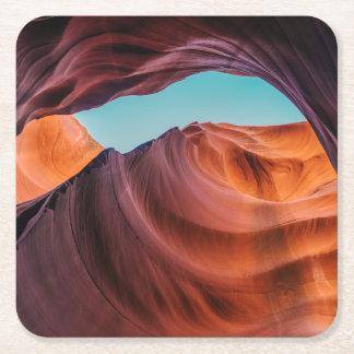 Antelope Canyon Square Paper Coaster