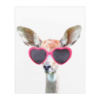 Antelope cute funny woodland animal watercolor acrylic wall art