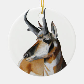Antelope Head Christmas Ornament