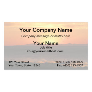 Antelope Island Sunset Pack Of Standard Business Cards