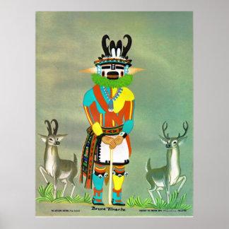 """""""Antelope"""" kachina print"""
