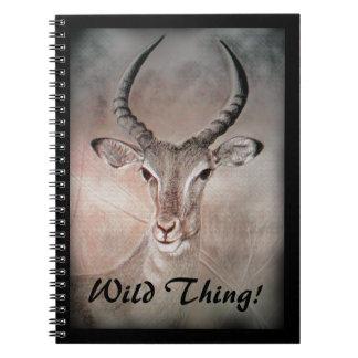 Antelope Notebook - Antelope Gazelle Wild Animal