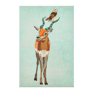 Antelope & Owl Canvas Canvas Print