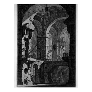 Antenna dark prison by Giovanni Battista Piranesi Postcard