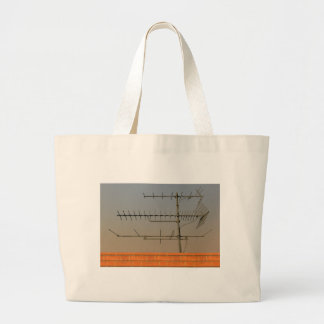 Antenna of old TV Large Tote Bag