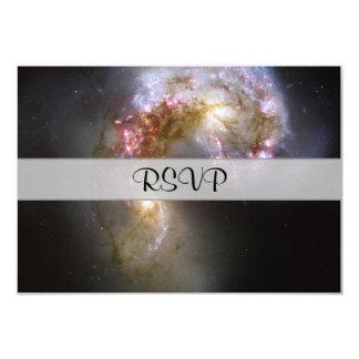 Antennae Galaxies 9 Cm X 13 Cm Invitation Card