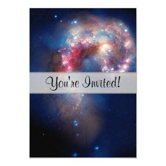 Antennae Galaxies Colorful Composite 13 Cm X 18 Cm Invitation Card