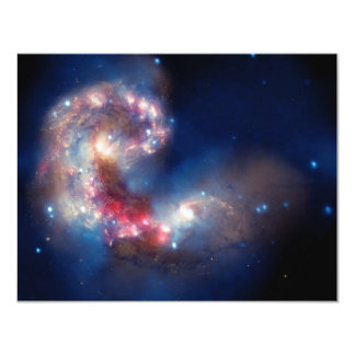 Antennae Galaxies Colorful Composite 4.25x5.5 Paper Invitation Card