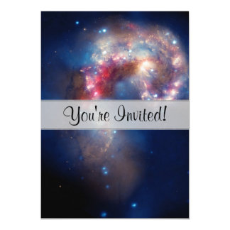 Antennae Galaxies Colorful Composite 5x7 Paper Invitation Card