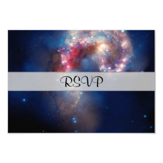 Antennae Galaxies Colorful Composite 3.5x5 Paper Invitation Card