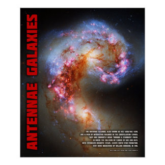 Antennae Galaxies Poster