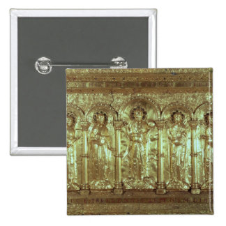 Antependium depicting Christ with the donors 15 Cm Square Badge