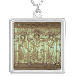 Antependium depicting Christ with the donors Square Pendant Necklace