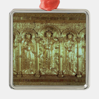 Antependium depicting Christ with the donors Silver-Colored Square Decoration