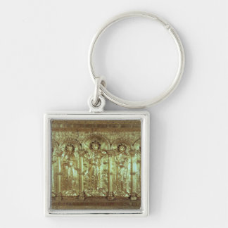 Antependium depicting Christ with the donors Silver-Colored Square Key Ring