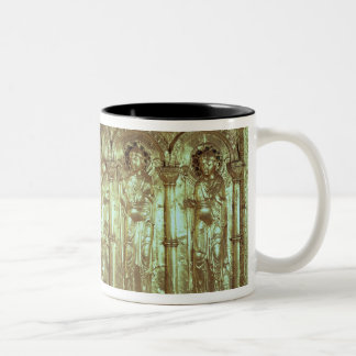 Antependium depicting Christ with the donors Two-Tone Coffee Mug
