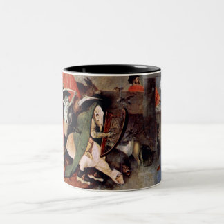 Anthony Altar -Temptation of St. Anthony, detail 7 Two-Tone Coffee Mug
