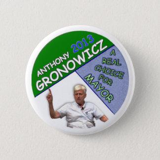 Anthony Gronowicz for NYC Mayor 2013 6 Cm Round Badge
