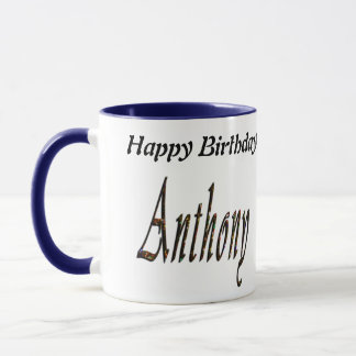 Anthony Name Logo, Mug