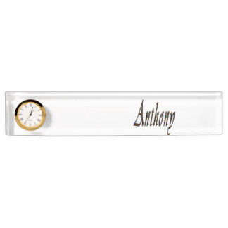 Anthony Name Logo, Name Plate