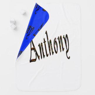 Anthony, Name, Logo, Reversible Baby Blanket. Baby Blanket