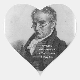 Anthony Philip Heinrich Heart Sticker