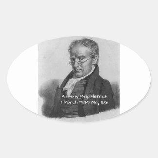 Anthony Philip Heinrich Oval Sticker