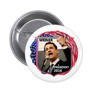Anthony Weiner for President 2016 6 Cm Round Badge