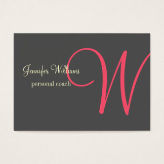 Anthrazite Minimalistic Monogram Business Card