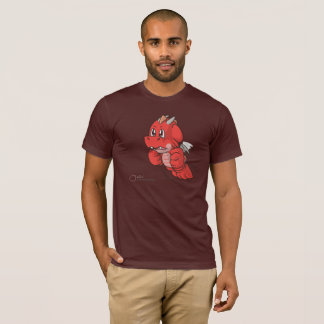 Anthro SD Red Cartoon Dragon Men's T-shirts