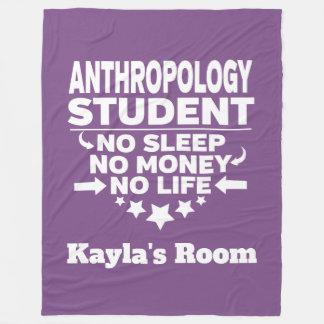 Anthropology College Major No Sleep No Money Fleece Blanket