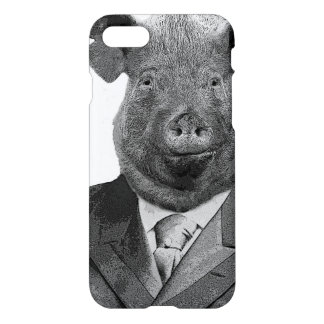 Anthropomorphic Pig Wearing Suit - iPhone 8/7 Case