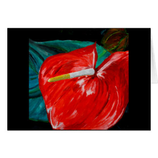 Anthurium flower greeting card all occasion
