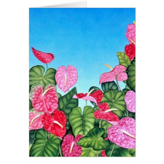 Anthurium Sky Card