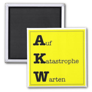 Anti AKW Kühlschrankmagnet Square Magnet