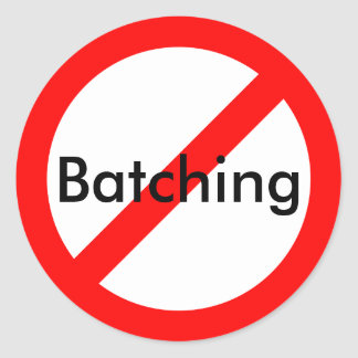 Anti-Batching Sticker