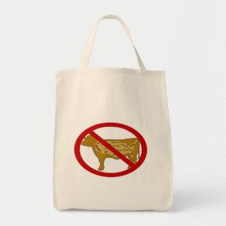 Anti Beef Organic Grocery Tote Bags