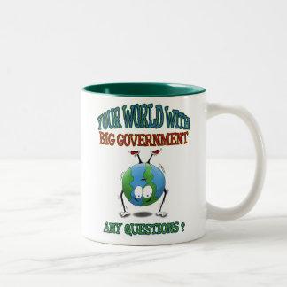 Anti-Big Government mugs: Your World Two-Tone Mug
