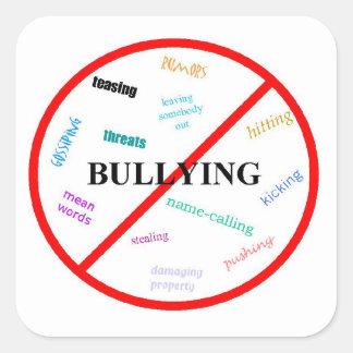 Anti Bully Square Sticker