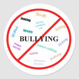 Anti Bullying Classic Round Sticker