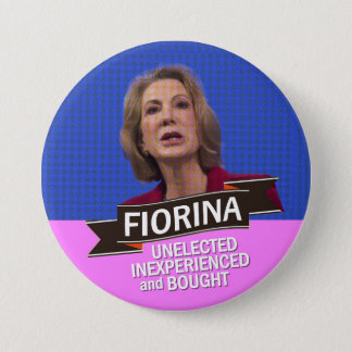 anti-Carly Fiorina for President 7.5 Cm Round Badge