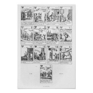 Anti-catholic playing cards commemorating posters