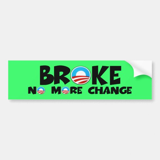 Anti change,anti Obama Bumper Stickers