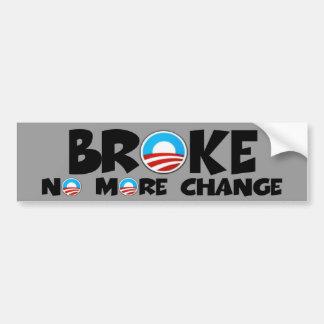 Anti change,anti Obama Bumper Sticker