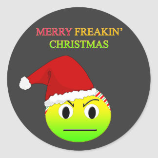 Anti-Christmas Merry Freakin' Christmas Stickers
