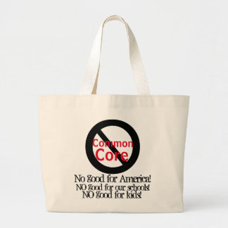 Anti Common Core Standardized Testing Large Tote Bag