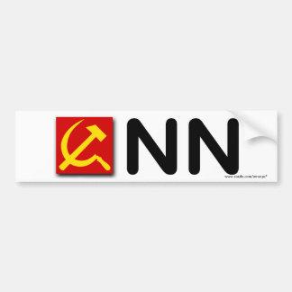 """Anti Democrat """"Communist News Network"""" Car Bumper Sticker"""