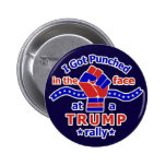Anti Donald Trump Funny Punched in Face 6 Cm Round Badge