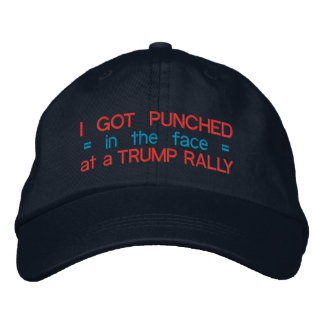 Anti Donald Trump Funny Punched in Face Election Embroidered Baseball Cap